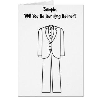 Ring Bearer Tuxedo Card