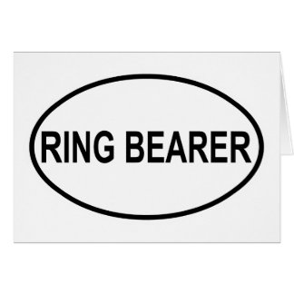 Ring Bearer Wedding Oval Greeting Cards