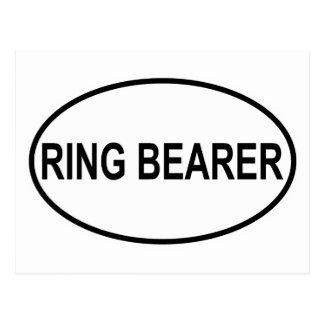 Ring Bearer Wedding Oval Post Card