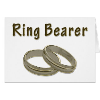 Ring Bearer With Golden Rings Greeting Card