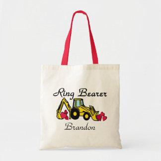 Ring Bearer Yellow Backhoe Tote Bag