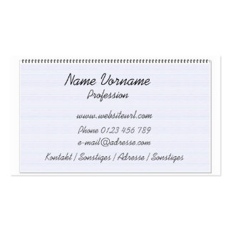 ring binder business card template