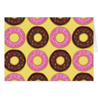 Ring Doughnut Birthday card