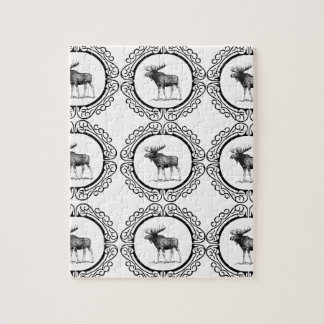 ring herd of moose jigsaw puzzle