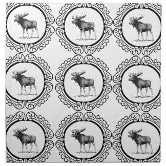 ring herd of moose napkin