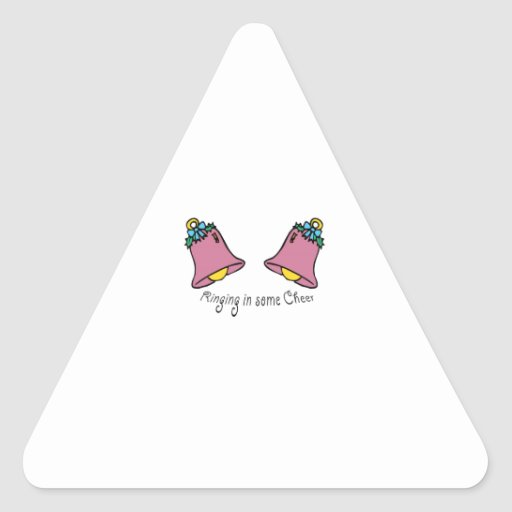 Ring In Cheer Triangle Sticker