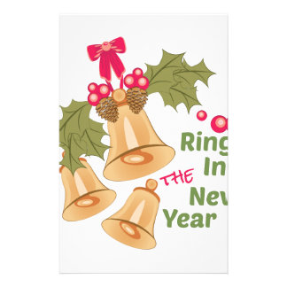 Ring In New Year Personalized Stationery