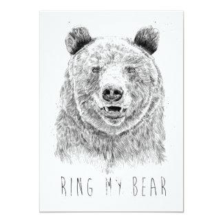 Ring my bear (bw) card