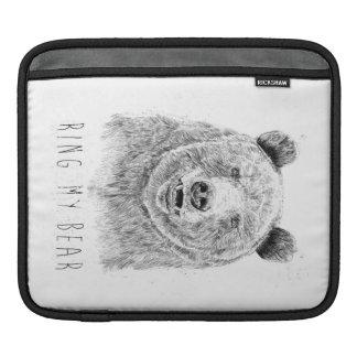 Ring my bear (bw) iPad sleeve