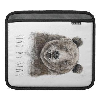 Ring my bear iPad sleeve