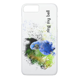 RING MY BELL Blue Hyacinth Macaw Art Phone Case