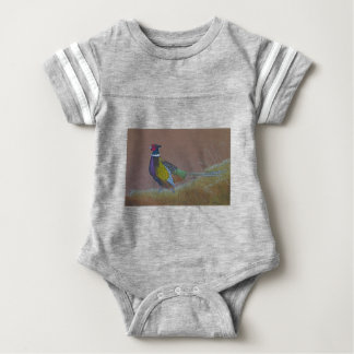 Ring Neck Pheasant Wild Bird Baby Bodysuit