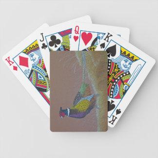 Ring Neck Pheasant Wild Bird Bicycle Playing Cards