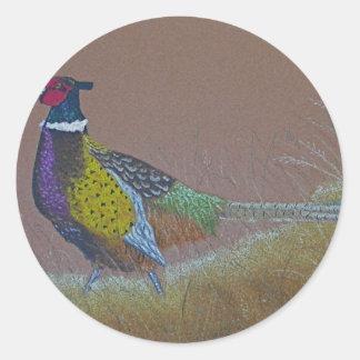 Ring Neck Pheasant Wild Bird Classic Round Sticker