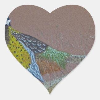 Ring Neck Pheasant Wild Bird Heart Sticker