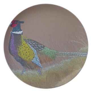 Ring Neck Pheasant Wild Bird Plate
