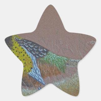 Ring Neck Pheasant Wild Bird Star Sticker