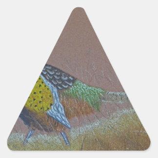 Ring Neck Pheasant Wild Bird Triangle Sticker