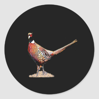 Ring necked Pheasant Classic Round Sticker