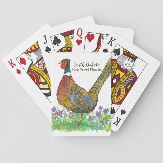 Ring Necked Pheasant South Dakota State Bird Playing Cards