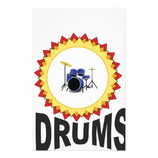 ring of drumset customized stationery