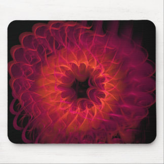 Ring of Fire Abstract Fractal Mousepad