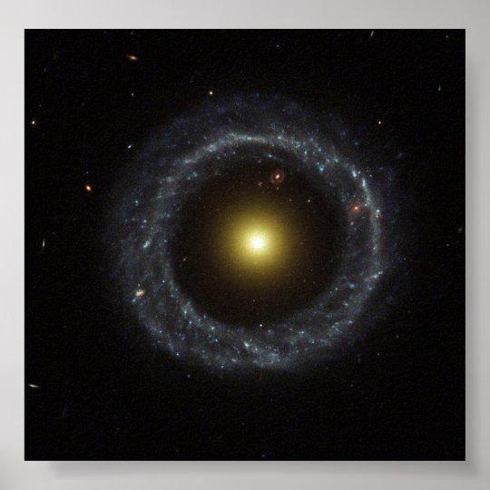 Ring of Hot Blue Stars Pinwheels Around Yellow Nuc Poster