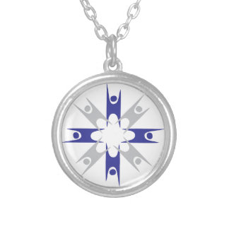 Ring of Humanists Silver Plated Necklace