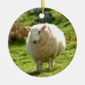 Ring of Kerry Sheep Ceramic Ornament