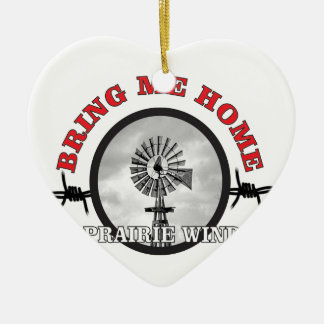 ring of prairie wind ceramic ornament