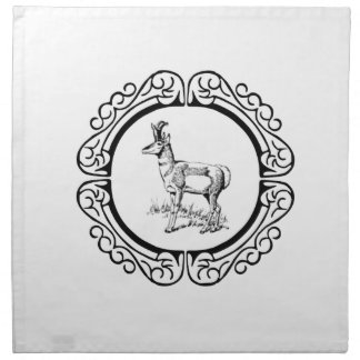 ring of pronghorn napkin
