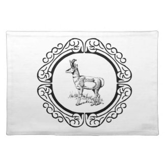 ring of pronghorn placemat