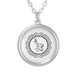 ring of pronghorn silver plated necklace