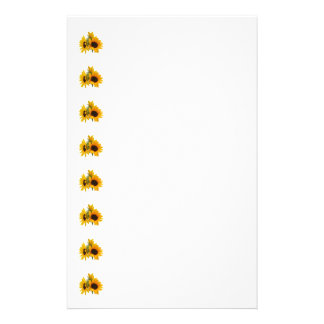 Ring of Sunflowers Personalized Stationery
