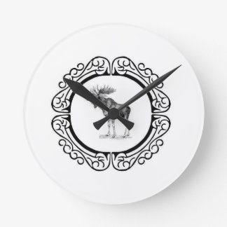ring of the bull moose round clock