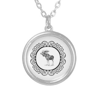 ring of the bull moose silver plated necklace