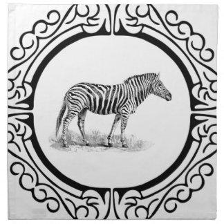 ring of the zebra napkin