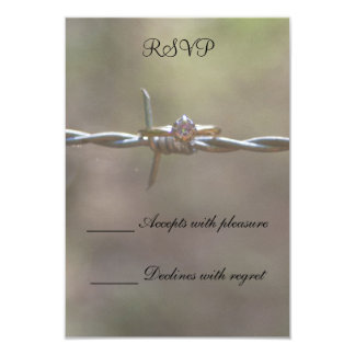 Ring on Barbed Wire Card