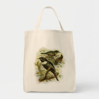 Ring Ouzel Bird Family Vintage Portrait Tote Bag