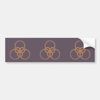 Ring sample circle pattern bumper sticker