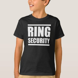 Ring Security Boys wedding shirt