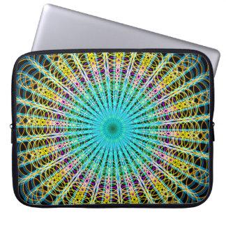 Ring Structures Mandala Laptop Sleeve