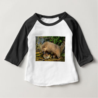 Ring-tailed Coati attacking a turtle Baby T-Shirt