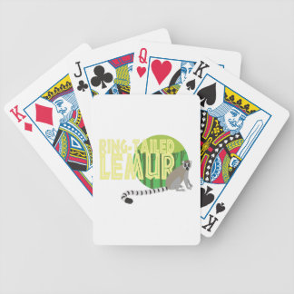 Ring-Tailed Lemur Bicycle Playing Cards