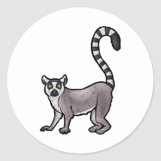 Ring Tailed Lemur Classic Round Sticker