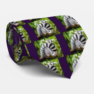 Ring-tailed lemur tie