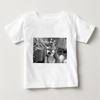 Ring-tailed lemur with baby black and white baby T-Shirt