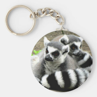 Ring-Tailed Lemurs Keychain
