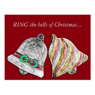 RING those Christmas Bells... Postcard
