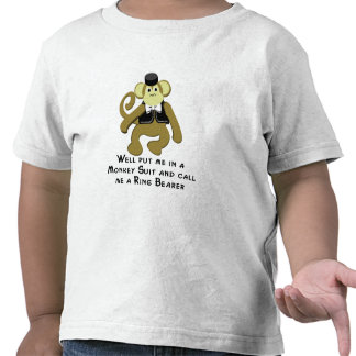 Ringbearer/ Monkey Tshirts